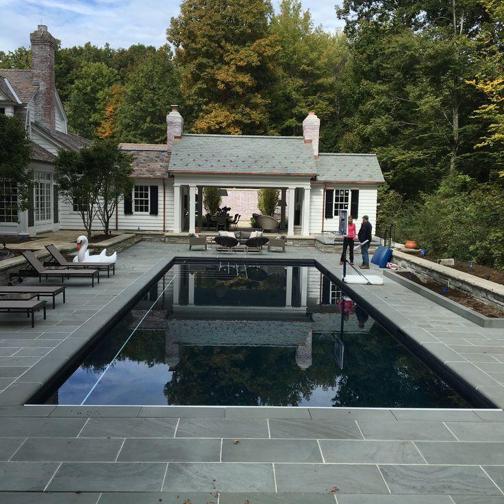 Virginia Burt Designs Pool midway through construction, architecture by David Ellison Architect