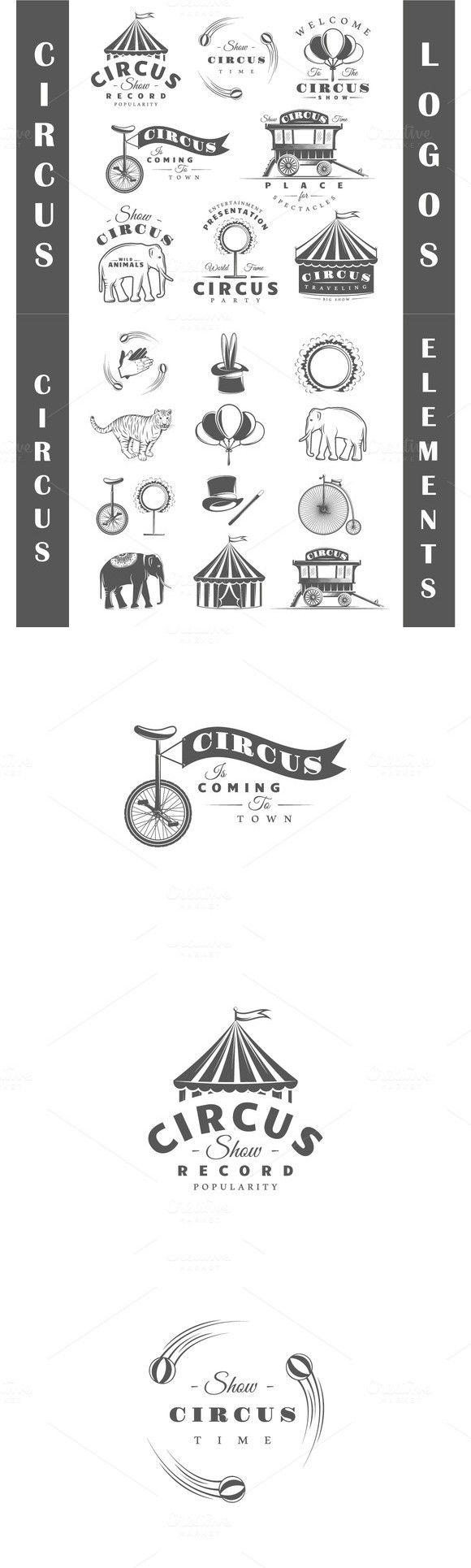 8 Circus logos templates Vol.2. Premium Icons. $10.00