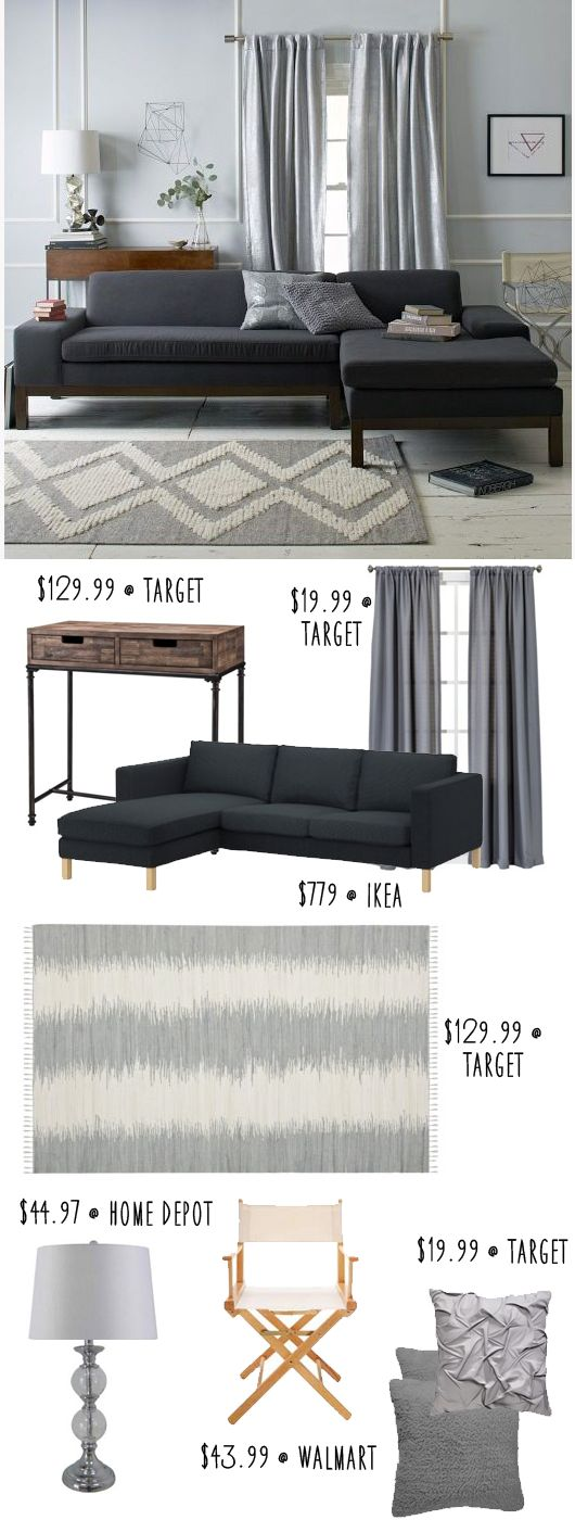 West Elm Modern Living Room Inspiration On A Budget