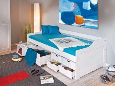 INT-Floro fiókos gyerek ágy (ágyráccsal) 2