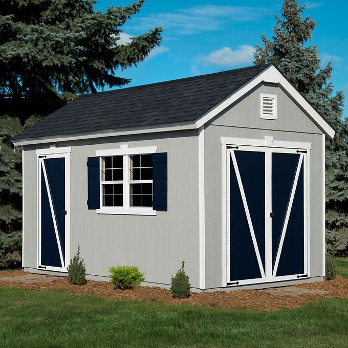 Crestwood 14 X 8 Wood Storage Shed Costco Wood