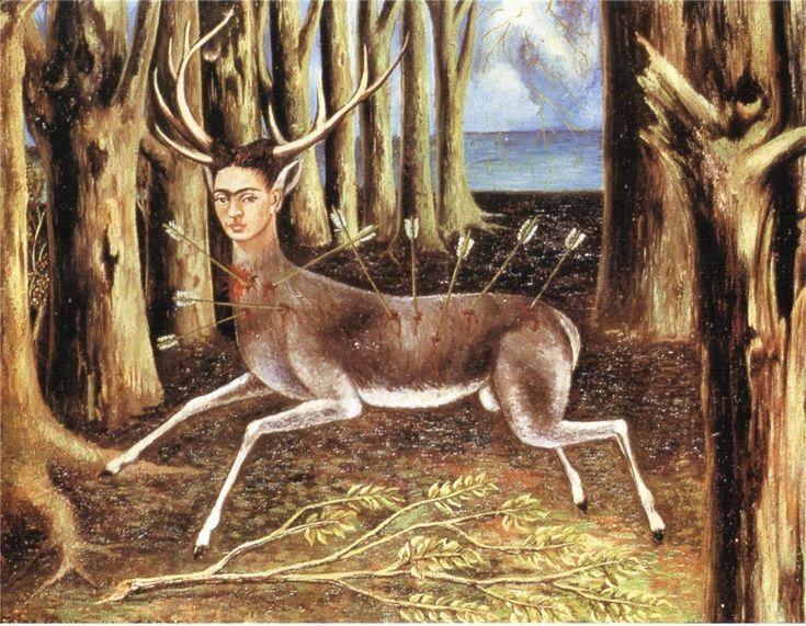 The Wounded Deer Frida Kahlo 1946 self-portrait Dimensions: 22.4 x 30 cm