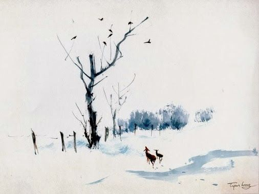 Watercolor Art Community Google Tyrus Wong Winter