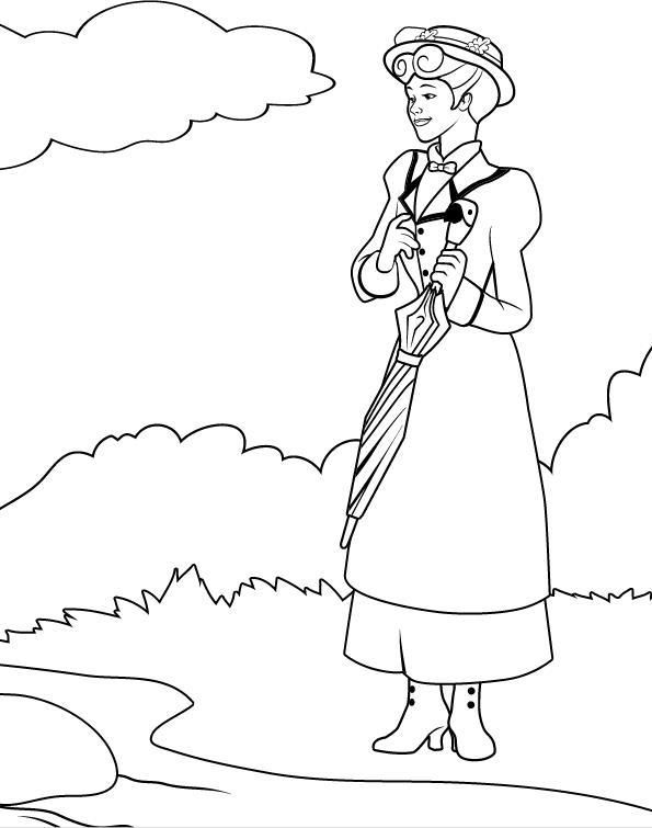 10 best coloriage mary poppins images on Pinterest | Coloring books ...