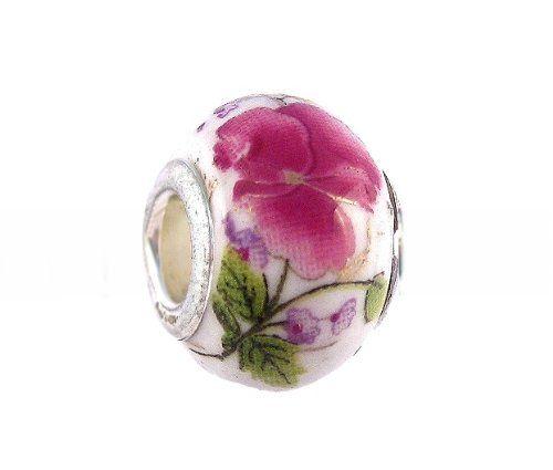 Pandora Style Charm Bead (Z62) Murano Lampwork Glass (14mm x 10mm) (fits Troll too) $2.49