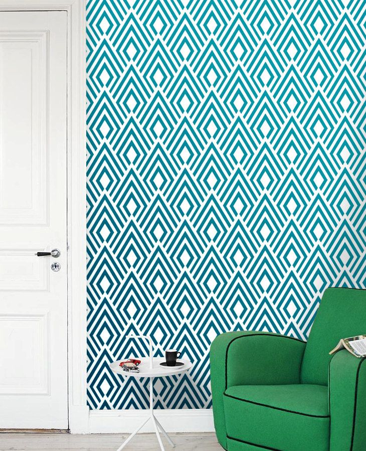Removable selfadhesive modern vinyl Wallpaper by PatPrintbyAmy, $36,00
