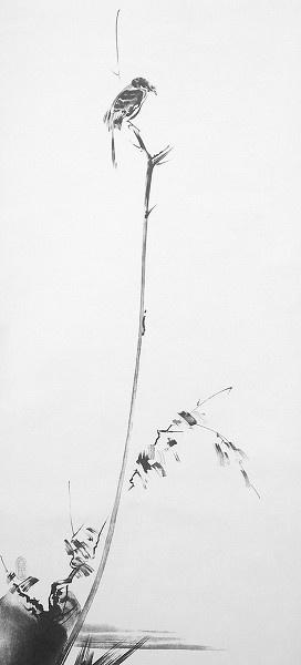 宮本武蔵『枯木鳴鵙図』