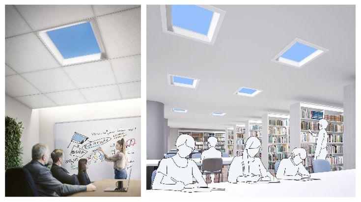 2020年10月 三菱電機からまるで天窓のような天井に青空を映し出す照明