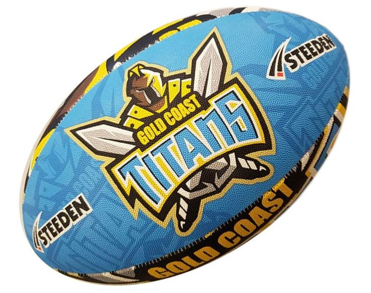 Gold Coast Titans Rugby Ball by Steeden