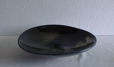 """Lubomir Blecha, glass bowl """"Milky way on the plate"""", 1963, diam: 29,0 cm, pattern No: 6360, glassworks Skrdlovice, Czechoslovakia"""