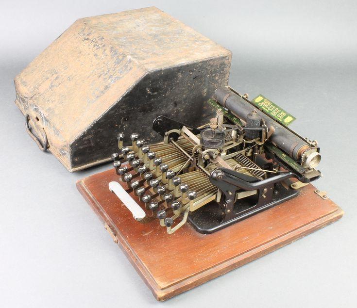 Lot 183, A 1902 Moya no.1 typewriter, est £1000-1500