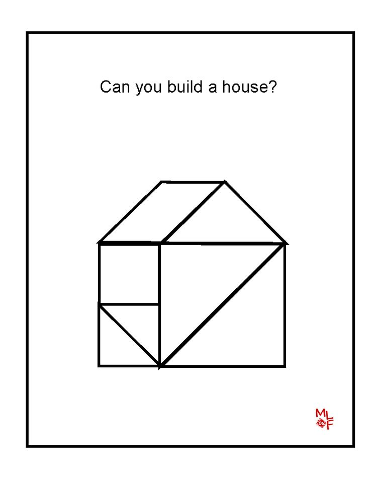 House Tangrams Printable