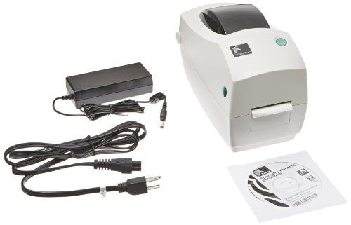 """ad: Zebra TLP 2824 Plus Monochrome Desktop Thermal Printer with Serial and USB Ports, 4 in/s Print Speed, 203 dpi Print Resolution, 2.20″ Print Width, 100-240V AC  Desktop printer can be used to print barcode labels or other media up to 2.2"""" wideServes as either a direct thermal printer, which heats thermal paper to produce the print, or as a thermal transfer printer, which heats a ribbon to produce the print on the paper32-bit processor printer has print speeds of up to print up t.."""