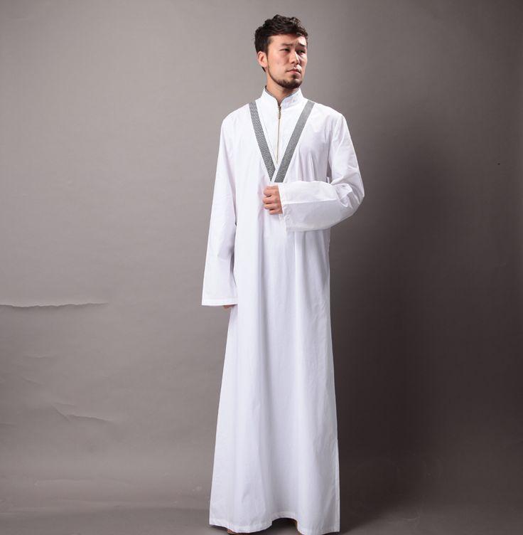 Mens Summer Cotton Abayas Moslem Long Clothing Kaftan Robes Saudi Turkish Arabia Muslim Islame Wear XXL Oman