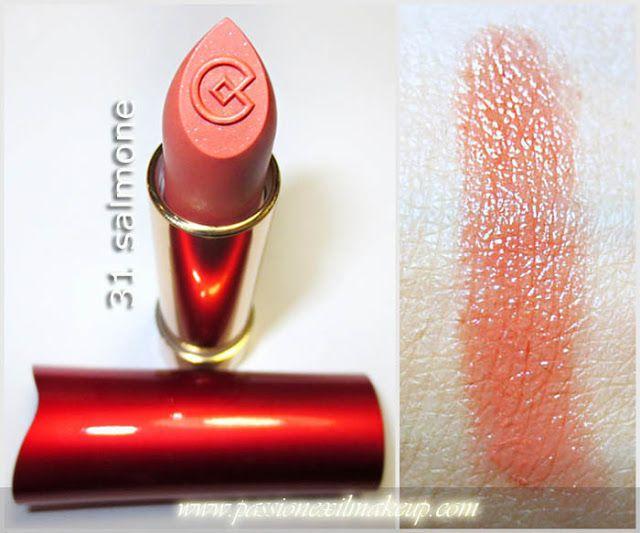 ROSSETTO VIBRAZIONI DI COLORE N° 31 Salmone#Collistar #rossetto #swatch #lips #labbra #vibrazioni #colore #salmone #lipstick