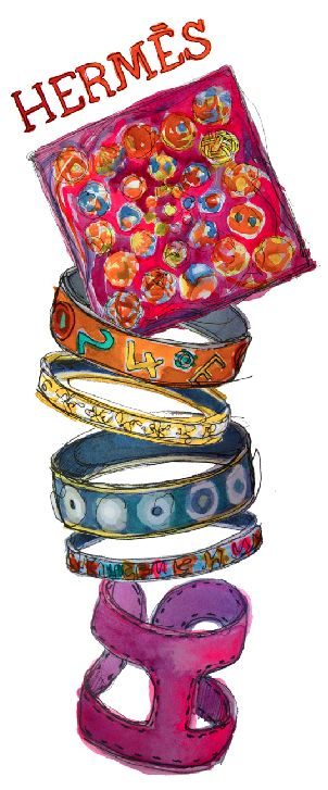 hermès illustration: Hermes Bracelets, Art Alive, Hermes Illustrations, Paper Fashion, Hermes Scarves, Marca Chic, Enchanted Style, Fashion Illustrations, Design Sketch