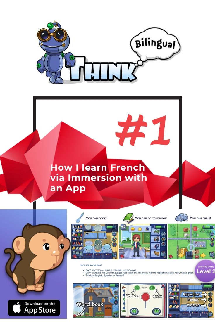 This is a language immersion app, first ever, developed for #ESL