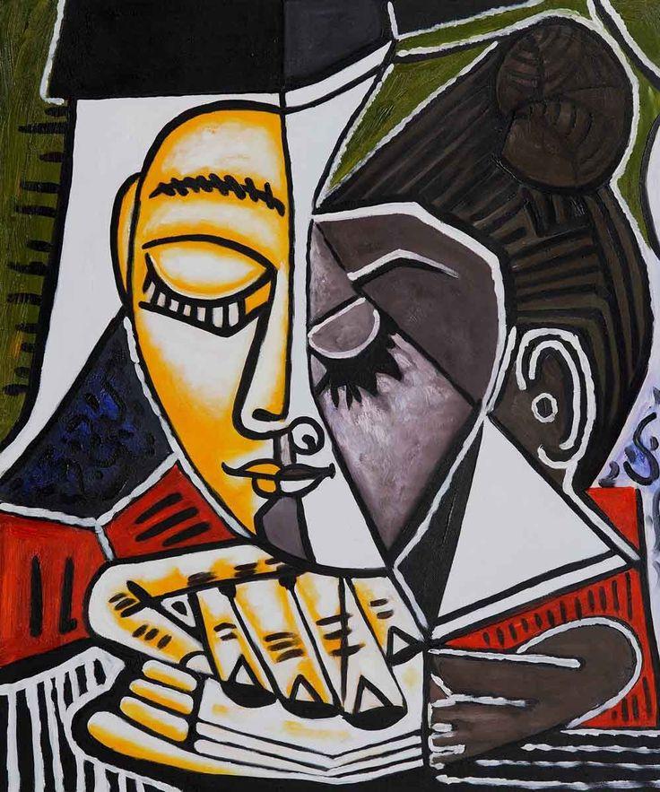 Pablo Picasso 'Tete d'une Femme Lisant' Hand-painted Framed Art Print