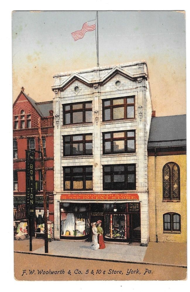 Top York Pa Woolworth Building U C Store Vintage Postcard Made In Germany  With Used Furniture Stores In York Pa
