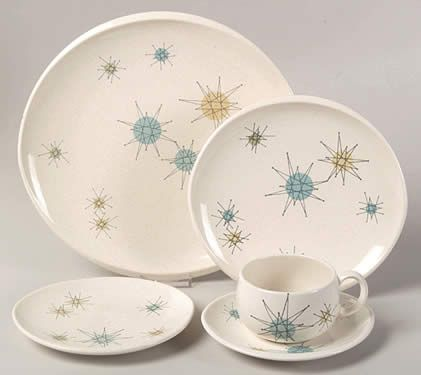 contemporary china patterns | in 1954 franciscan china released a bold new china pattern called ...