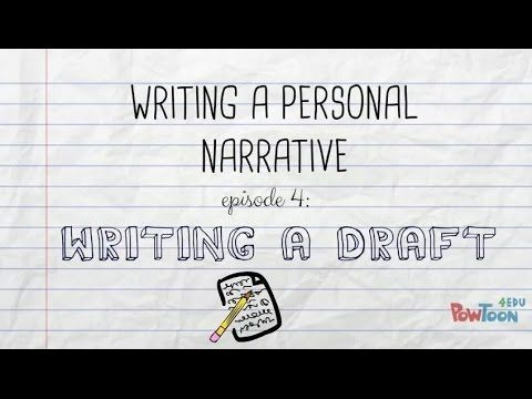 Writing a Personal Narrative- 8 videos to lead students through the - new letter writing character reference