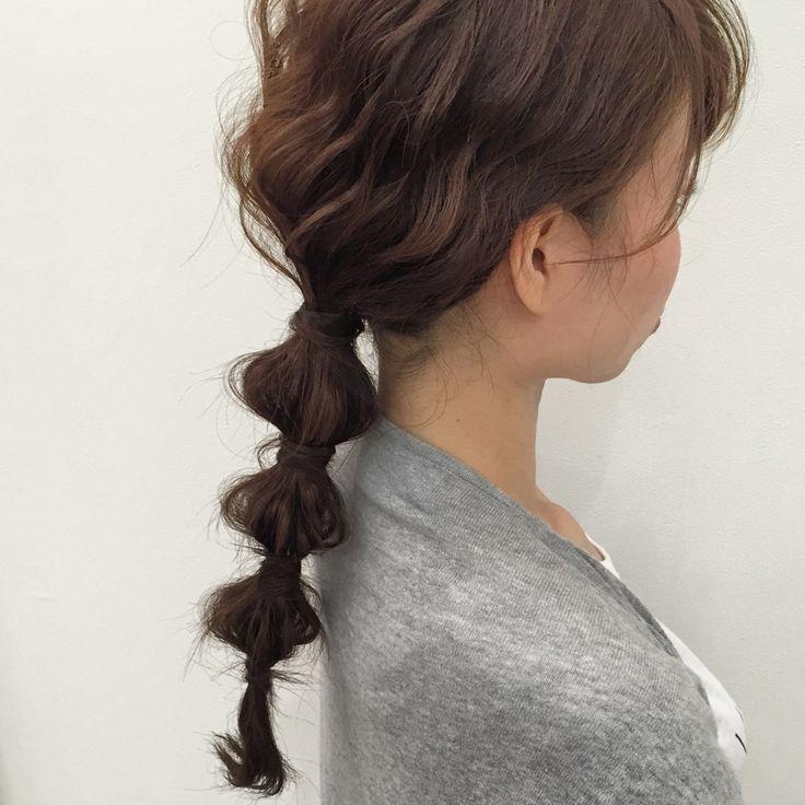 ゴムだけで簡単アレンジ♡ぽこぽこなヘアスタイル♡参考にしたいカット・アレンジ・髪型☆