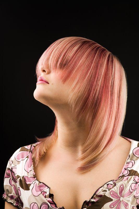 Pink streaks.. Love it!