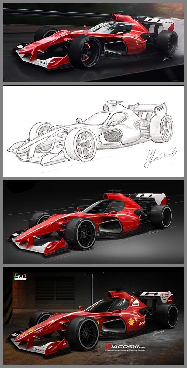 Os futuros carros da Fórmula 1 >> Iacoski Design