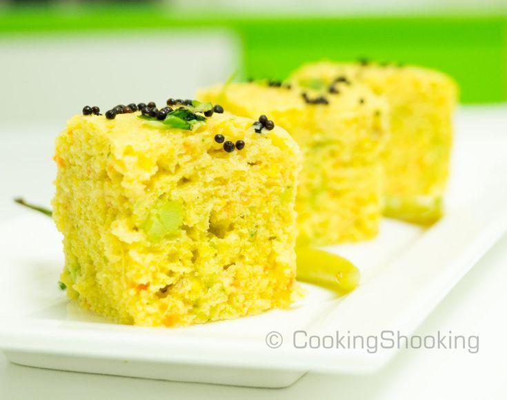 Vdhokla3 | Vegan Indian Food | Khaman dhokla, Recipes ...