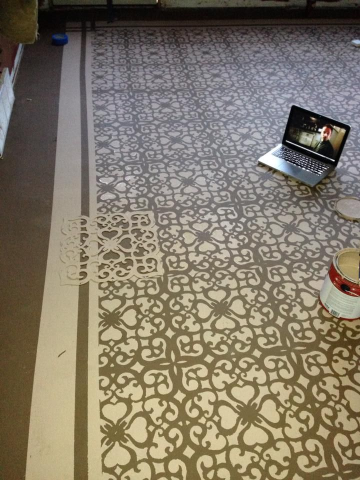 17 best ideas about stenciled floor on pinterest for Painted concrete floor ideas