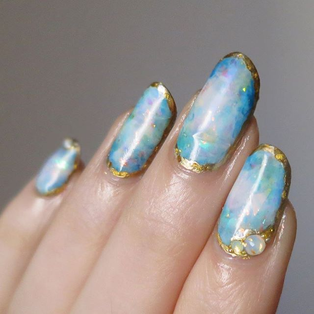 Opal Nails by ladycrappo