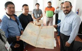 Entrega AGEO planos fundacionales a Santa Catarina Noltepec