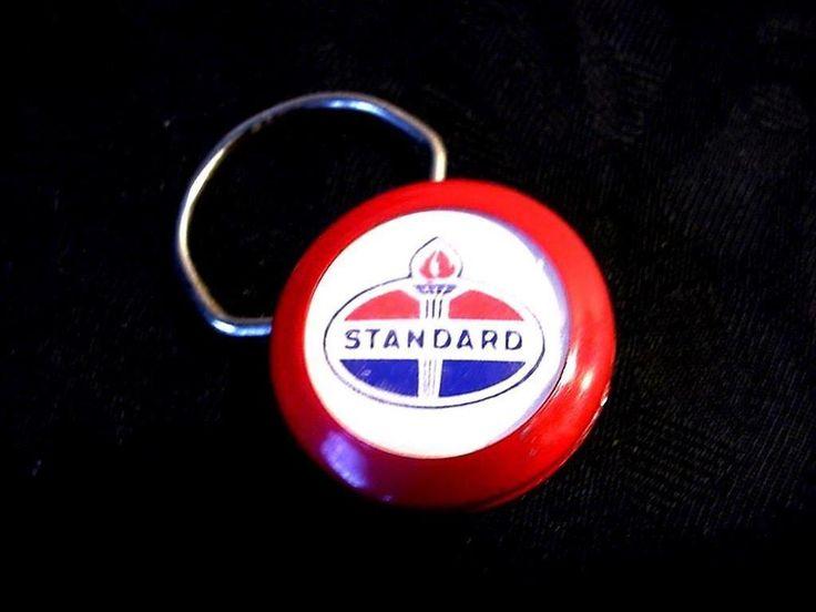 "Vtg Standard Oil Key Ring ""A & H 24 Hour Towing Service Edwardsville Ill"" Advtg #StandardOil"