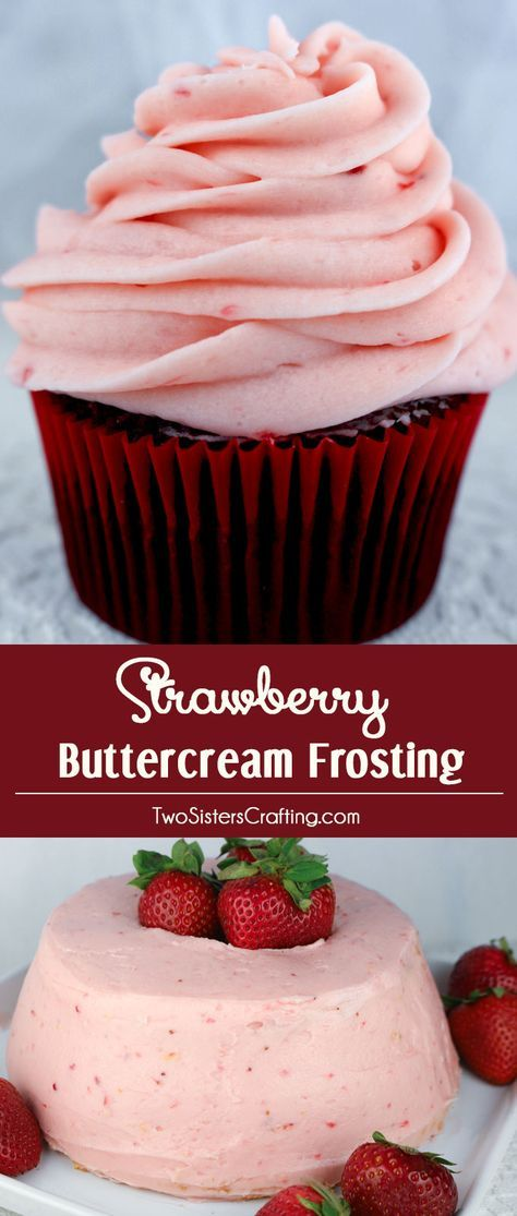 Frosting recipe for great desserts. Homemade Strawberry Buttercream Frosting - never use store bought again.