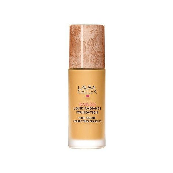 Laura Geller Baked Liquid Radiance Foundation,1 oz (845 UAH) ❤ liked on Polyvore featuring beauty products, makeup, face makeup, foundation, liquid foundation, moisturizing foundation, white liquid foundation, laura geller and white face makeup