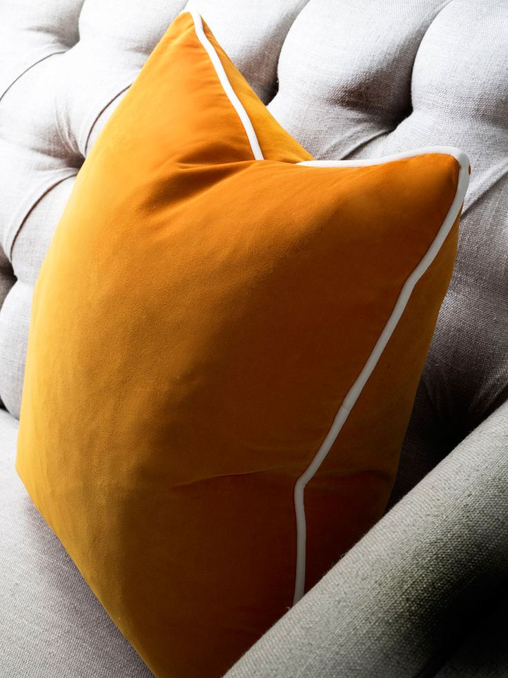 Pelham Clementine Cushion with Pelham Milk Piping