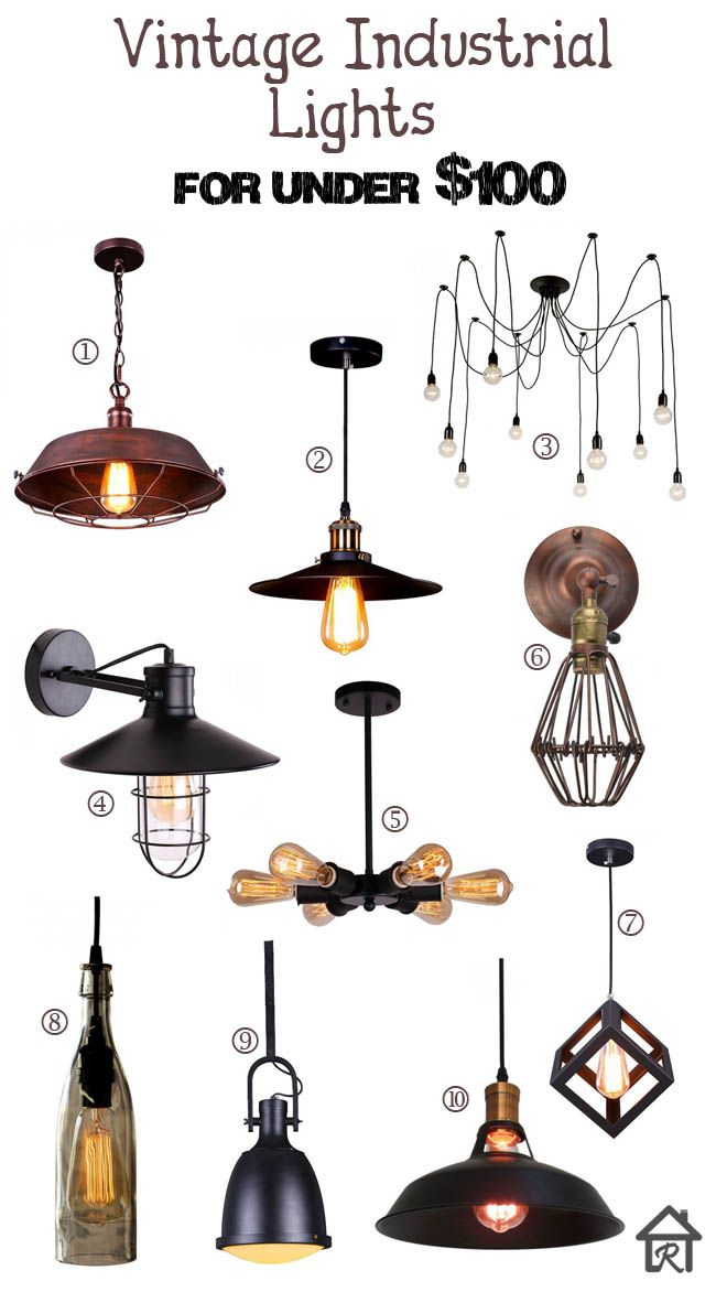 Vintage Industrial Lights for Under $100