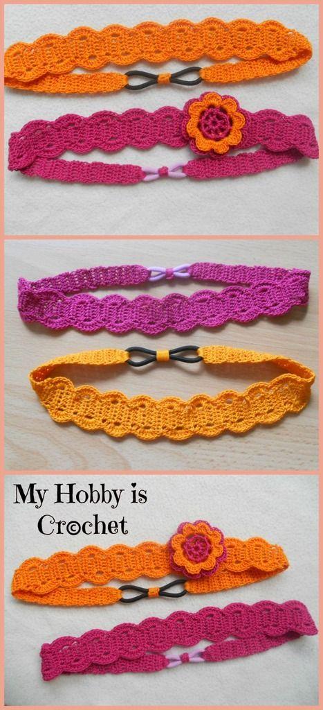 Sur le blog de Hanim, un tutoriel de bandeau au crochet