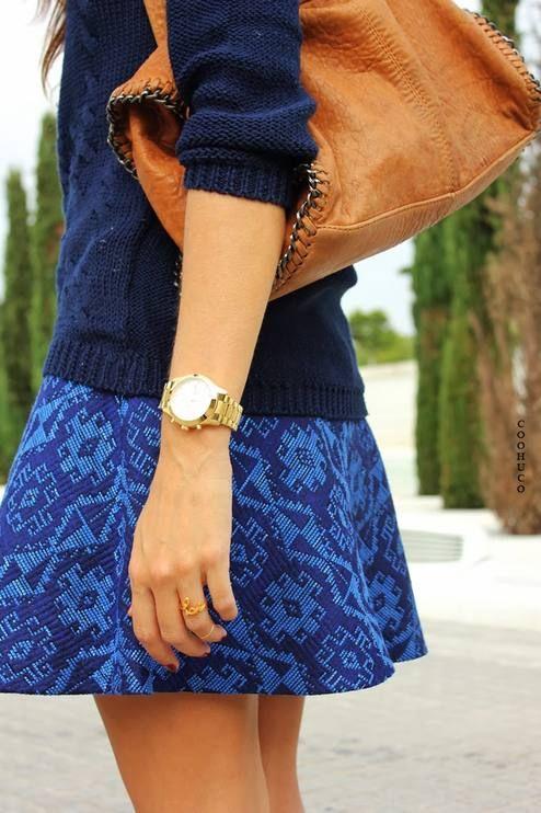 Blue Ethnic skirt