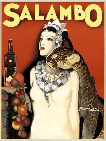 Vintage Italian Posters ~ #Italian #vintage #posters ~  Salambo, Luciano Achille Mauzan