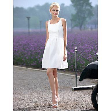 Hochzeitskleid - Chic & Modern/Hochzeitsempfang - A-Linie/Prinzessinnen-Linie - U-Ausschnitt - Kurz/Mini (Taft) – EUR € 63.63