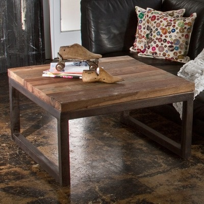 CG Sparks Weathered Iron Coffee Table in Natural