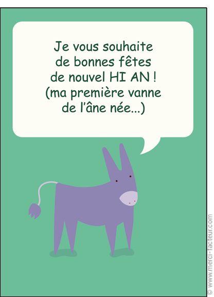 Le nouvel HI AN - Carte de voeux humour 2017 par La Poste