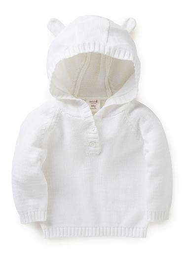 So cute!   Baby Clothes Knitwear & Jumpers | Nb Hooded Ear Sweater | Seed Heritage