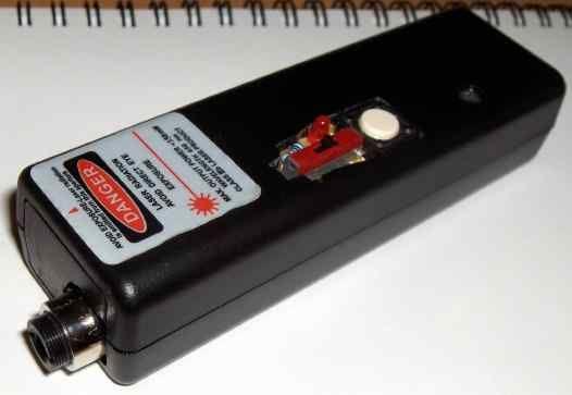 red homemade laser