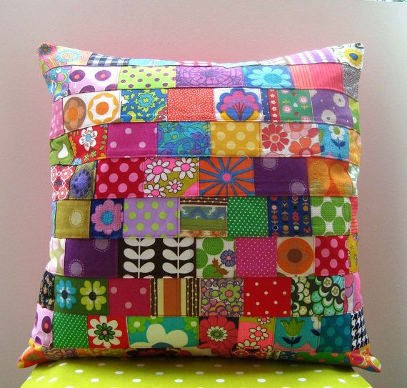 funky patchwork. Can add some Pom Pom edging.