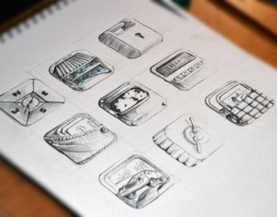 """Check out new work on my @Behance portfolio: """"Hand Drawn Icons"""" http://on.be.net/1lhgnjz"""