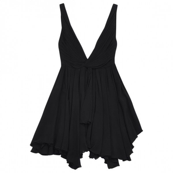 Black Dress SAINT LAURENT ($925) ❤ liked on Polyvore featuring dresses, vestidos, short dresses, black dress, short black cocktail dresses, black mini dress and kohl dresses