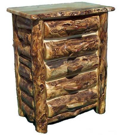 Burl Aspen Log Chest of Drawers Item #COD05423 Three Drawer Chest - $1495 Four Drawer Chest - $1595 Five Drawer Chest - $1695 Custom Sizes Available