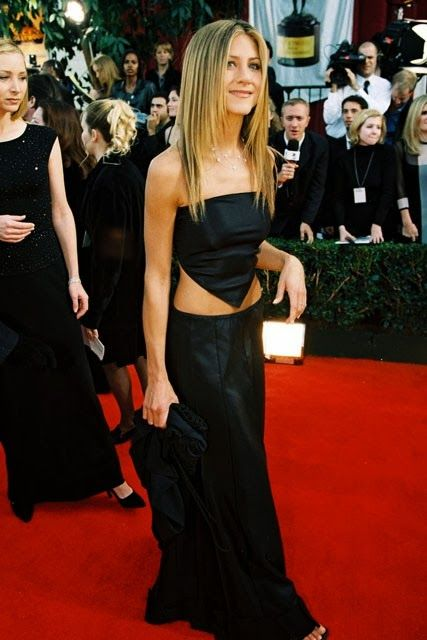 Jennifer Aniston, in Red carpet 1999. She is famous actress in Hollywood. Always has perfect style